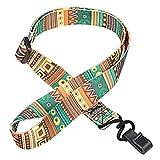 Ofoen ukulele, guscio fettuccia ukulele chitarra, collo regolabile imbracatura della cinghia tracolla con bottone Multicolor
