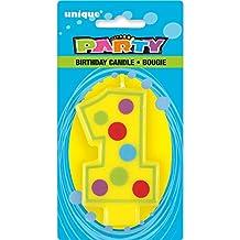 Unique Party -  Vela de Cumpleaños - Número Decorativo 1 (37551)