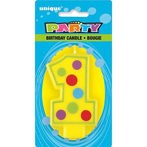 Unique Party - 37551 - Bougie Décorative d'Anniversaire Numéro 1 0011179375516