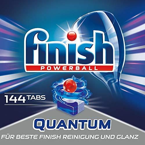 Finish Quantum Spülmaschinentabs für 3 Monate, Gigapack, 1er Pack (8x18 Tabs)