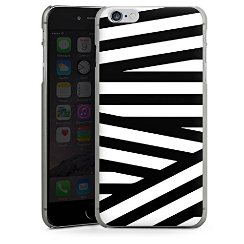 Apple iPhone 5s Housse Outdoor Étui militaire Coque Lignes Noir et blanc Motif CasDur anthracite clair