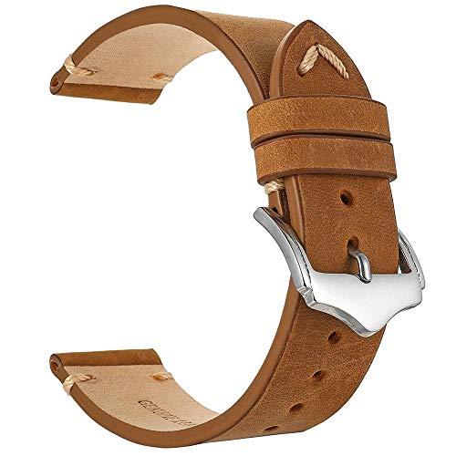 Handgefertigte armbänder für Uhren Uhrenarmbänder aus 1 echtem Leder Uhren-Zubehör Brand Design 20mm 22mm Uhrband Henziy-Uhrband-Straps12026