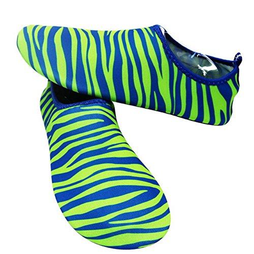 Eizur Unisex Scarpe da Immersione Scarpe da Spiaggia Antiscivolo Traspirante Scarpette da Bagno Scarpette per Sport Acquatici Mare Spiaggia Surfing Nuoto Ballo Yoga Verde
