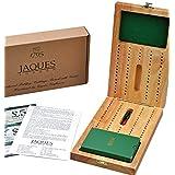 Tablero plegable de madera dura con naipes de lujo - Completo con alfileres - Jaques of London