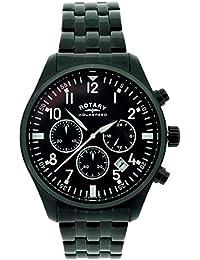 Rotary - Reloj de pulsera hombre, acero inoxidable, color negro
