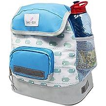 Emma & Noah mochila para niños 'Ballena pequeña' , 2 - 6 años, repelente al agua, incl. reflectores, correa en el pecho, mochila bebé para guardería, mochila infantil pequeña
