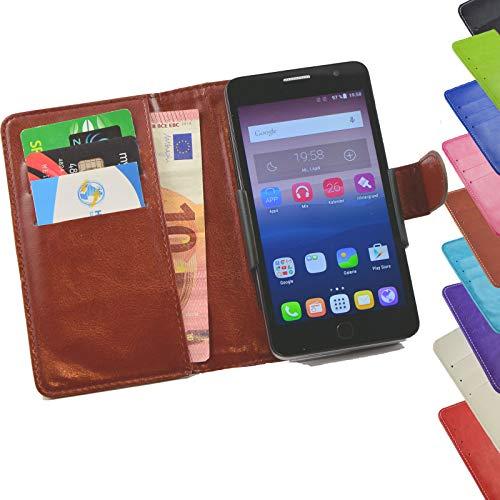 ikracase Tasche für Mobistel Cynus F9 Hülle Cover Case Etui Handy-Tasche Schutz-Hülle in Braun