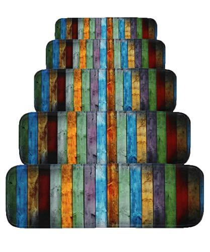 Preisvergleich Produktbild JQQJ 15 Pcs Stufenmatten rutschfeste Mute Treppen TeppichStair CushionKurzflor Teppich Läufer / Matten Schutz Für TreppenstufenHome Designer Teppich