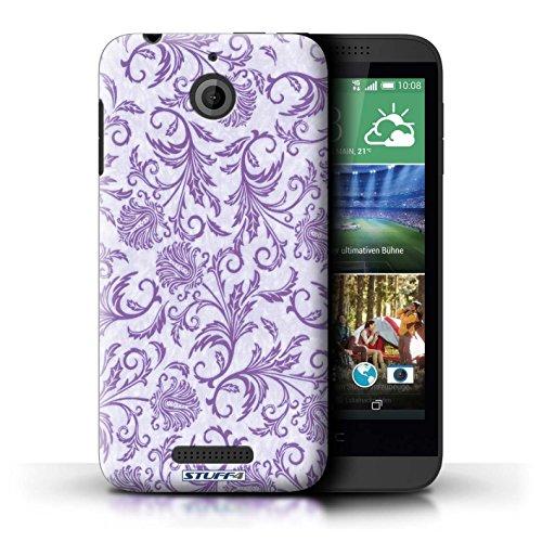 Kobalt® Imprimé Etui / Coque pour HTC Desire 510 / Fleurs Bleues conception / Série Fleurs Fleurs Mauves