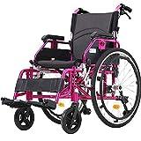 CHAIR Confort en fauteuil roulant Pliable Léger Ultra Léger Portable Sports Casual Aluminium Absorbant les Chocs Vieil Homme Voyager Petite Roue Brouette Voyage