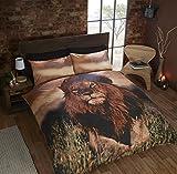 Homespace Direct - Set copripiumino, misura King, motivo: leone