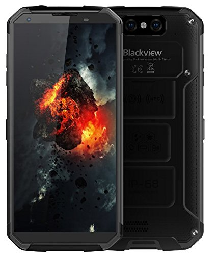 "Blackview BV9500, Battery 10000 mAh IP68 / IP69K Waterproof / Shockproof / Anti-Dust Smartphone IP68 Android 8.1, FHD + screen from 5,7 ""(18: 9), 2,5 GHz Octa Core 4 GB + 64 GB, 12V / 2A fast charge wires supported), 16 MP rear camera, GPS / NFC / fingerprint - Black"