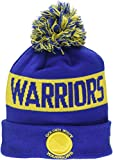 New Era Men's Golden State Warriors Bobble Knit Beanie, Blue, One Size