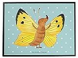 Mr. & Mrs. Panda Schreibtischunterlage Schmetterling Zitronenfalter - 100% handmade in Norddeutschland - Liebe, besonders, Unterlage, Fakten, außergewöhnlich, Schmetterling, Schreibtisch, Fakt, Schmetterlinge, anders, Zitronenfalter, Kunststoff