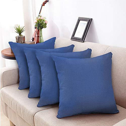 Bishe fodera per cuscino 4 federe tinta unita federa cuscino federa per divano per auto da ufficio camera da letto 18 x 18 45 x 45 cm