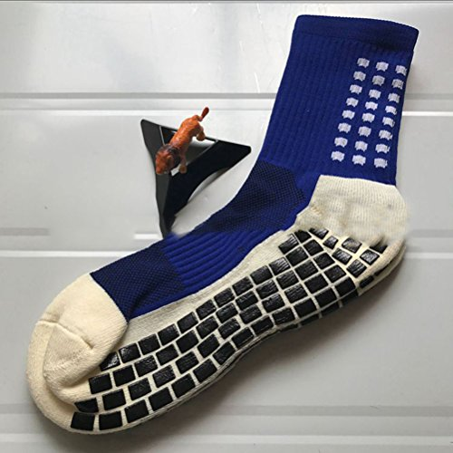 LUOEM Men s Athletic Socks Crew Socks Sports Football Soccer Socks Short Stockings  Dark Blue