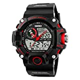 SKMEI Analog-Digital White Dial Men's Watch-1029 Red