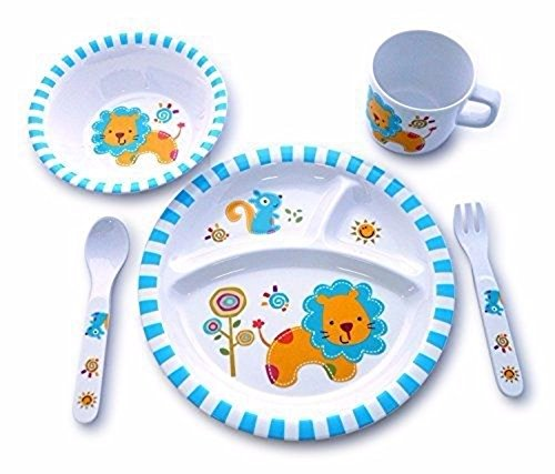 Culina Kids plato y cuenco de melamina vajilla –...