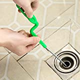 HITSAN Hair Removal Tool Drain Dredge Pipe Sewer Cleaner Hook Kitchen Sink Cleaner Tool