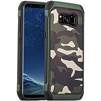Samsung Galaxy S8 Plus Camouflage Hülle | JAMMYLIZARD Outdoor-Schutzhülle [Army HD] Military Case aus Silikon und Leder mit Tarnmuster, Grün