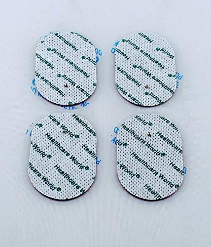 TENS-Elektroden starke Selbst Klebepads mit kleinen Druckknopf-Anschluss, 8 Stüke. Geeignet für Omron E2, E4 usw. Oval Form