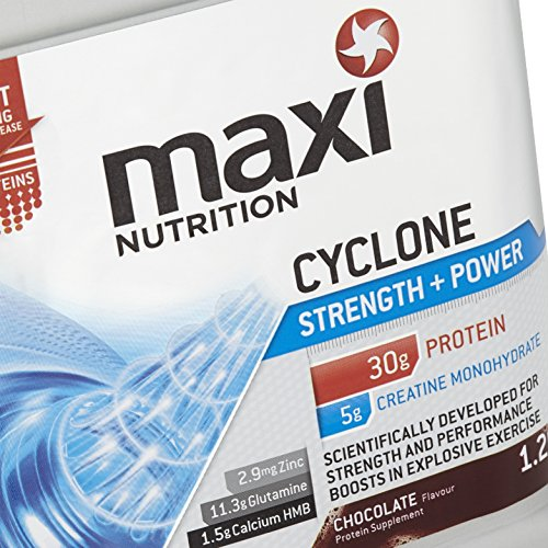 MaxiNutrition Cyclone Strength and Power Protein Shake Powder – 1.26 kg, Chocolate