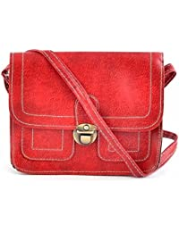 Urbantra Fashionable Casual Daily Use Faux Leather Cross Body Sling Bag For Women & Girls With Flap Press Closure...