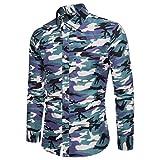BaZhaHei Herren Pullover Herren Camouflage Print Pullover Langarm T-Shirt Top Bluse Rundhals Oberteile mit Coolem Druck