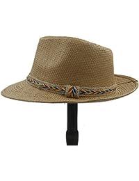 XZP Sombrero de Verano para Mujer, diseño de Pajita de Panamá, 5, 56-58CM