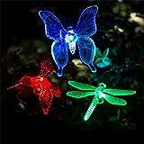 Guoyajf Solar Stake Lights Outdoor Garten [3Er-Set] Farbwechsel LED-Leuchten Mit Klaren Schmetterling Dragonfly Kolibri Stake Mixed Für Outdoor-Garten Pathway Lawn Yard Dekoration