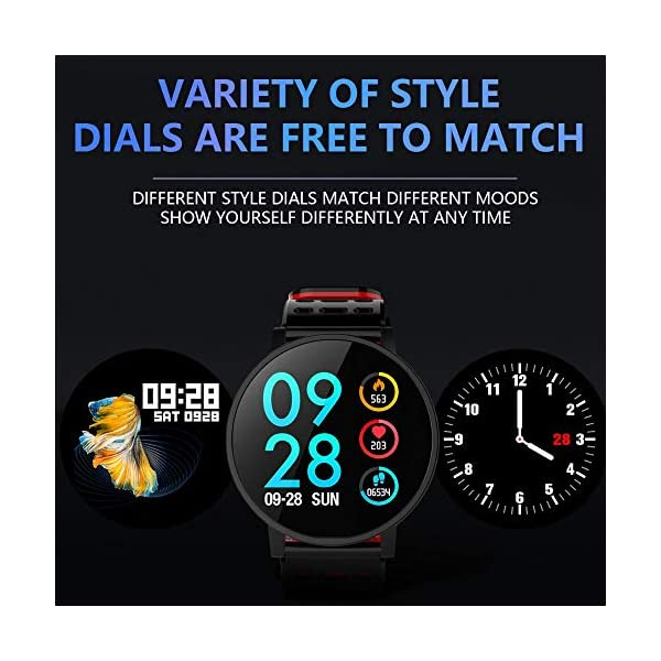 TOOGOO T3 Smart Watch Ip67 Impermeable Smartwatch Presión Arterial Monitor de Ritmo Cardíaco Rastreador de Ejercicios Hombres Wearable Pulsera Inteligente (Negro) 4