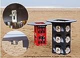 Bierkastentisch Partytisch Tischaufsatz Stehtisch Bistrotisch inklusive Flaschenöffner und Kistenhalter 78 cm Durchmesser (ohne Getränkekisten)