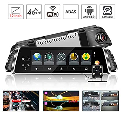 HWUKONG-Auto-DVR-Spiegel-Stream-Media1080P-Dual-Lens-Backup-Kamera-Android-Navigator-4G-WiFi-ADAS-Avtoregistrator-Full-HD-Rckspiegel-Drive-Video-Recorder