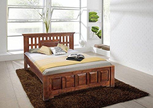 MASSIVMOEBEL24.DE Koloniales Bett 200x200 Akazie massiv Holz Oxford Classic #264