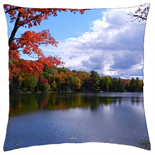 iRocket - Fall Shoreline - Throw Pillow Cover (24