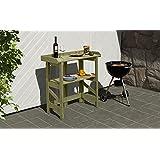 Mesa de jardín (LxBxH): aprox. 90x 42x 97cm/mesa/mesa Maceta/Jardín/listo para su uso./Estable/Uso Individual./Fácil y Rápido plegable de jardín Mundo cerrojo Berger
