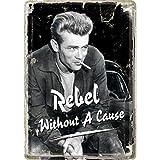 Nostalgic Art James Dean 'Rebel Without A Cause' Metal Postcard Sign With Envelope by Nostalgic Art
