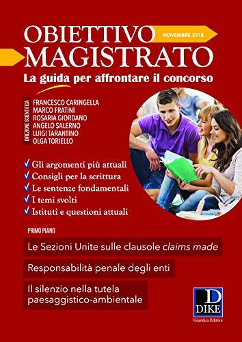 Obiettivo magistrato. La guida per affrontare il concorso (2018): 11