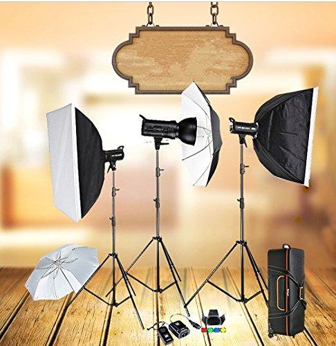 Gowe 3x 400W Compact photo studio luce