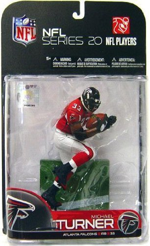 Mcfarlane Toys Action Figure - NFL Sports Picks 2009 Series 20 - Michael Turner (Red Jersey) Michael Turner Nfl