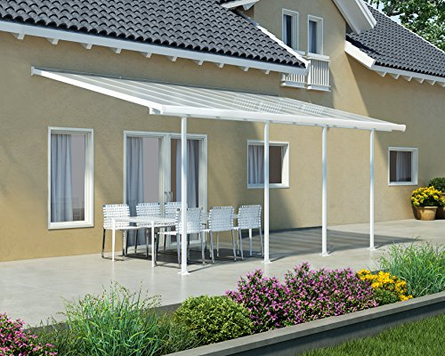Palram Pergola Patio Cover Feria 3 X 6 10m With Robust Structure For Year Round Use White