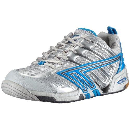 wb compagnie gmbh Hi Tec 4SYS Badminton PF W`, Damen Sportschuhe - Squash & Badminton, silber, (Silver/Cool Grey/Brt Blue), EU 37, (US 6), (UK 4)