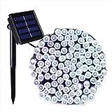 100/200/500 LED ad energia solare, stringa di luci per le vacanze da giardino, impermeabile, IP44, decorazione per feste, matrimoni, lampade e impianti di illuminazione, White Light, 200LED 22Meter