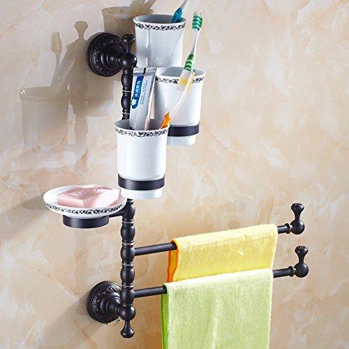 Creative Light-porte-serviettes Continental / Tout porte-savon en cuivre / porte-brosse à dents / Noir antique serviette rotatif en rack / simple et double à trois N