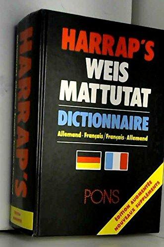 Harrap's Weis Mattutat : Dictionnaire allemand-français Pons par Harrap