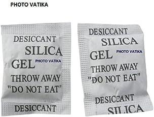Photo Vatika Silica Gel Desiccants Packets for moisture absorb in Cameras, Lenses, Mobile Phones, Electronics (20 Packs 5 gm Each)