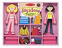 Safety WarningsCHOKING HAZARD - Small parts. Not for children under 3 yrs.Product DescriptionAbby and Emma love to play dress-up and exchange mix and match outfits. These two wooden, magnetic friends come with stands and hundreds of dress-up options ...