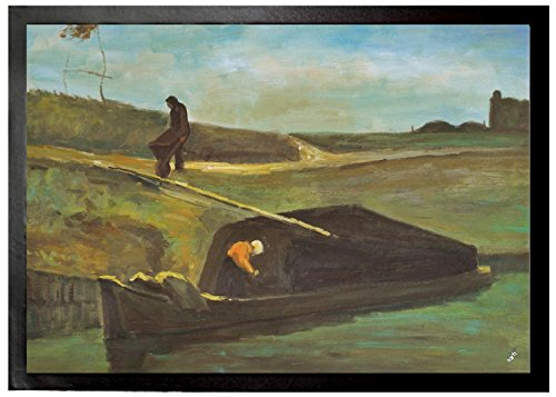 Vincent Van Gogh - Peat Boat With Two Figures, 1883 Felpudo Alfombrilla (70 x 50cm)