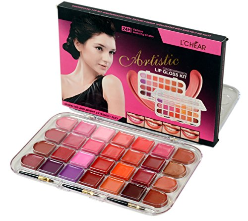 Lchear Artistic 28 Color Lipstick Palette (Pink, Red, Brown and Other Shades)