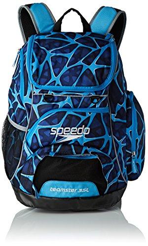 Speedo Teamster 35L Mochila, Unisex Adulto, Azul Jaula, Talla Única